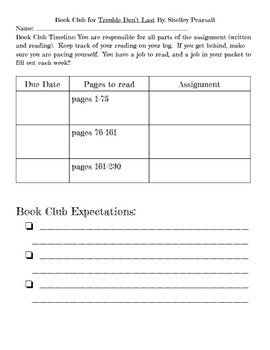 Book Club-Trouble Don't Last - PDF (Shelley Pearsall)