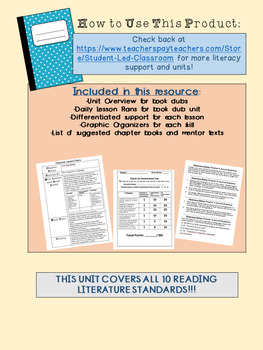 Book Club Unit: 17 Days of Mini-Lessons and Resources