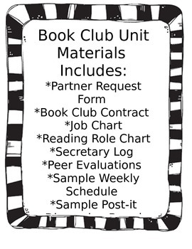 Book Club Unit Materials