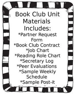 Book Club Unit Materials