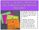 Book Club and Literature Circle Reading and Meeting Trackers!