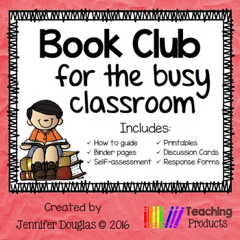 Book Club Binder - Activities For Any Book Fiction or Nonfiction