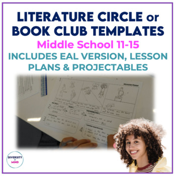Book Club or Literature Circle Templates for Middle School (includes ESL)