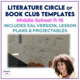 Book Club or Literature Circle Templates (includes ESL) *D