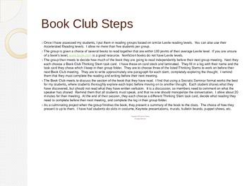 Book Clubs: A Fresh Look at Literature Circles
