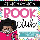 Book Club Digital and Printable Graphic Organizers for Any Fiction Text