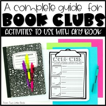 Book Club Activities, Response Pages, Posters, Bookmarks, Schedule