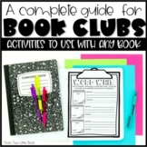 Book Club Activities: Literature Circle Activities, Response Pages, Posters