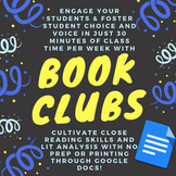 Book Clubs & Lit Circles Made Easy with Google Docs! Updat