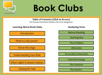 Reading Mini-Lessons for Book Clubs
