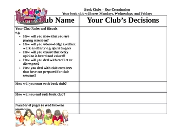 Book Clubs Organization Sheets