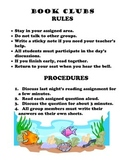 Book Clubs Rules & Procedures Poster