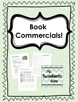 Book Commercials: Independent Novel Sharing