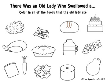 Book Companion Activity Set | There Was An Old Lady Who Swallowed a Pie |