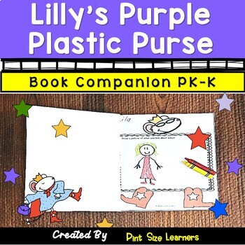 Book Companion Lilly's Purple Plastic Purse Pk and K