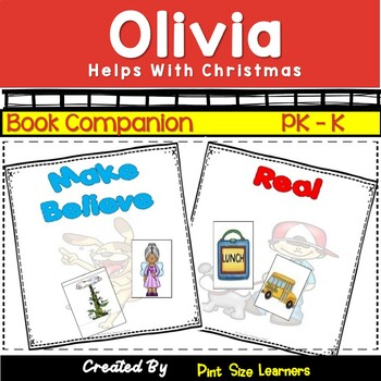 Olivia Helps With Christmas Book Activities Grades PK/K