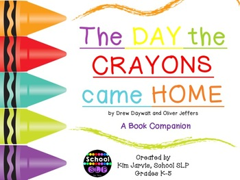 book companion the day the crayons came home by school slp tpt