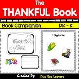 The Thankful Book  - Book Activities  Grades PK  K