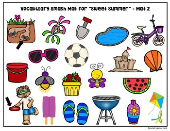 "Book Companion Vocab Building Smash Mats for ""Sweet Summer"""
