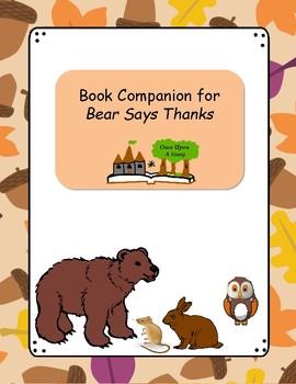 Book Companion for Bear Says Thanks