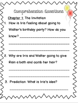 Book Companion for Iris and Walter and the Birthday Party