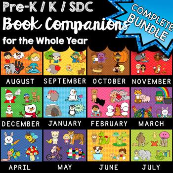 Preschool, Kindergarten, SDC Book Companions for the Whole Year - 52 Book BUNDLE