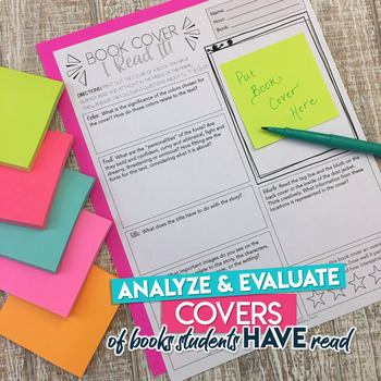 Book Cover Activity: Analytical and Evaluative Discussion, Redesign, and Lesson