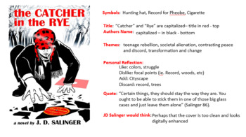 Book Cover Analysis - Catcher in the Rye