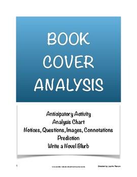 Book Cover Analysis; Anticipatory Set; Book Jacket Blurb; Secondary ELA