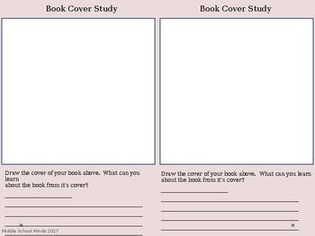 Book Cover Study - Reader's Notebook Page