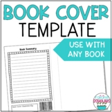 Book Cover Template with Summary and Transitions