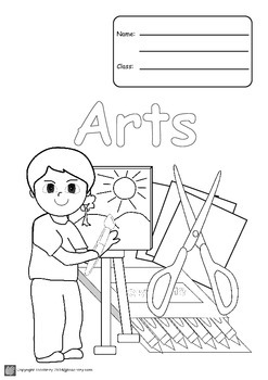 Book Covers A4 Size B&W for coloring