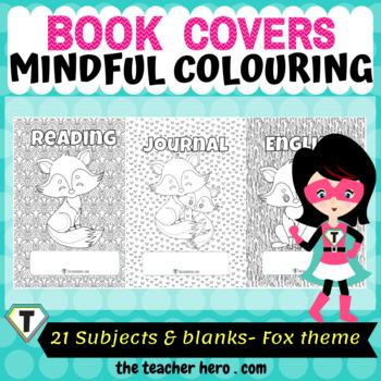 Book Covers- Cute Fox Theme