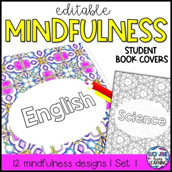 Book Covers Editable {Mindfulness Coloring}
