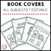 Book Covers all subject areas and one blank editable template