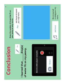 How Many Drops of Water Will Fit on A Penny: Book Creator App Template