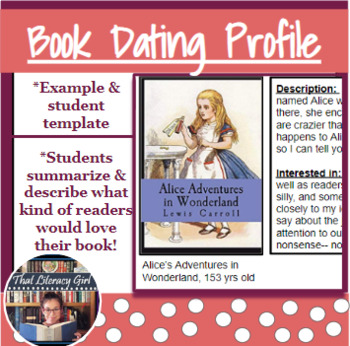 Book Dating Profile by That Literacy Girl | Teachers Pay