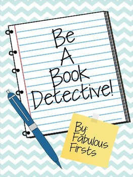 Book Detective Word Work Sheets
