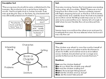 Reading Task Cards for Reciprocal Reading, Guided Reading