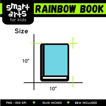 Rainbow Book Clip Art