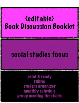 Book Discussion Booklet: social studies connections