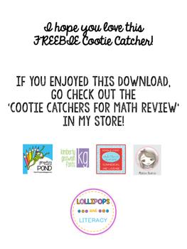 Book Discussion Cootie Catcher