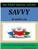 Savvy by Ingrid Law - No-Prep Novel Study