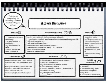 Book Discussion Guide and Sentence Starters