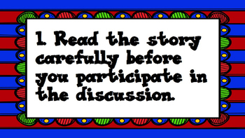 Book Discussion Guidelines 2nd-8th grades