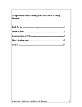 Book Discussion Planning Guide — How to Survive Middle School by Donna Gephart