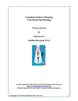 Book Discussion Planning Guide — Trauma Queen by Barbara Dee