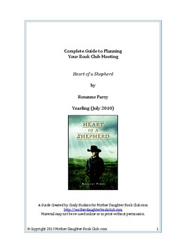 Book Discussion Planning Guide — Heart of a Shepherd by Rosanne Parry