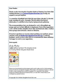 Book Discussion Planning Guide — Tortilla Sun by Jennifer Cervantes