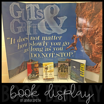 """Book Display Poster - """"Guts & Grit"""" Stories About Perseverance"""